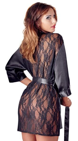Cottelli C. Kimono mit Spitzen-Rücken (Nachtwäsche)